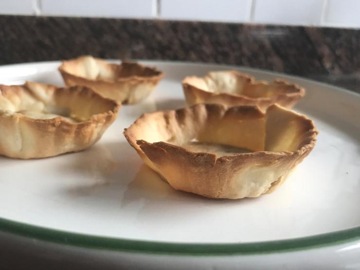 Tartaletas fáciles de mascarpone y chocolate blanco - Olor a café