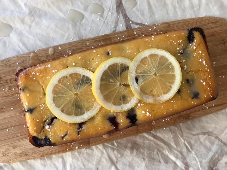 Bizcocho de limón, queso y arándanos (150)