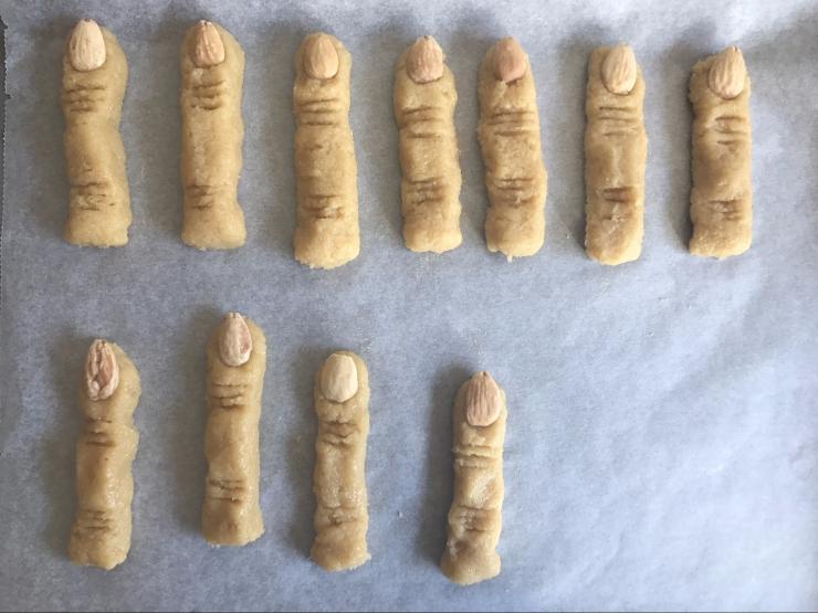 Halloween dedos de bruja